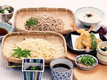 天ぷらと冷しうどん又はざるそば御膳