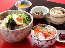 ミニ海鮮丼と稲庭風うどん御膳