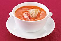 蟹卵とフカヒレのスープ