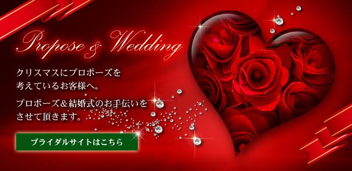 クリスマス プロポーズ&結婚式のお手伝いのご案内