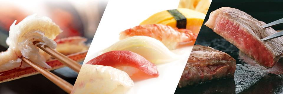 ホテルクラウンパレス小倉の蟹・寿司・ステーキ食べ放題ディナーバイキングトップイメージ