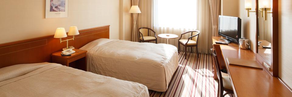 ホテルクラウンパレス小倉の客室「ツインルーム」の写真