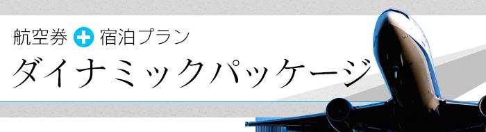 航空券・高速バス乗車券+宿泊プラン「ダイナミックパッケージ」