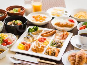 八代グランドホテルの朝食バイキング