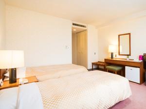 八代グランドホテルの客室一例