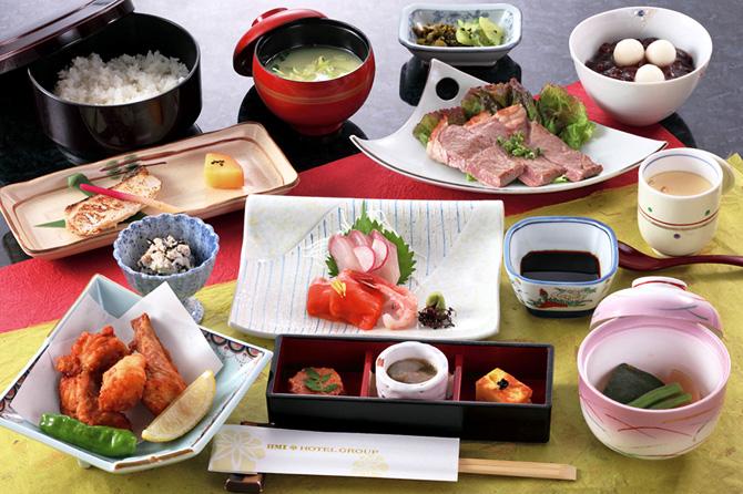 レストラン希望ヶ岡の冬の特別会席「錦会席」